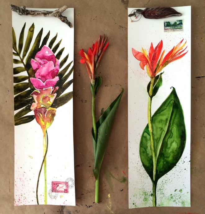 twoflowerswatercolor